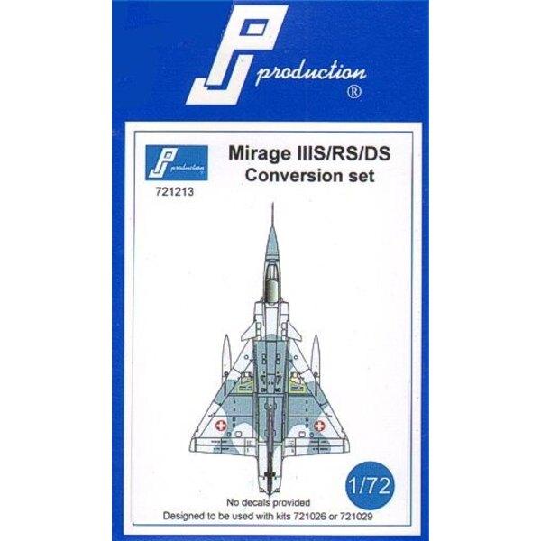 Kit di conversione Dassault Mirage III S / RS / DS . Questo kit di conversione è stato progettato per essere utilizzato con il M