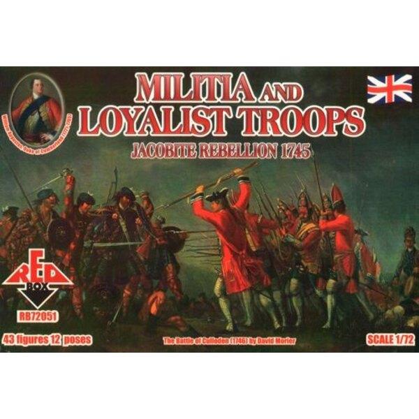 Giacobita Rebellion e le truppe lealiste Militia