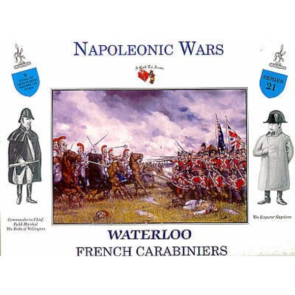 Waterloo French Carabiniers 4 figures on horseback