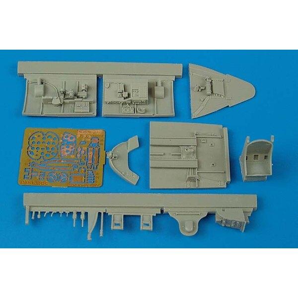 Grumman F6F-5 Hellcat cockpit set (per i kit modello da Hasegawa)