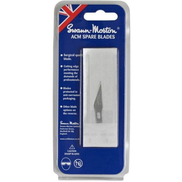 No.11 Blade to fit SM9105 No.1 handle in pack of 5 blades.