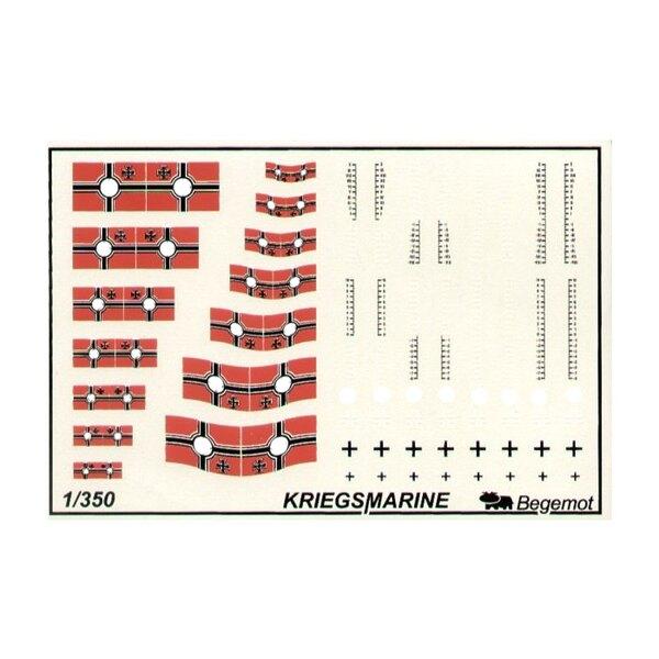 German Kriegsmarine flags and markings