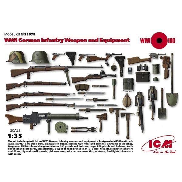WWI German Infantry arma e di equipaggiamento