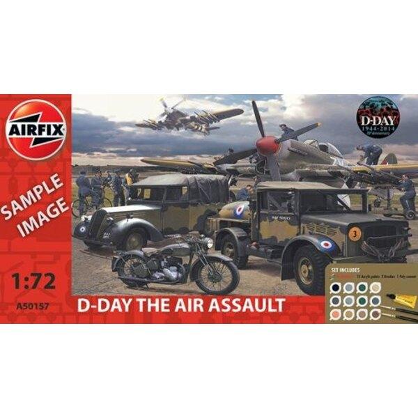 D-Day Air Assault Gift Set (regalo o antipasto set con vernici, pennello e cemento poli)