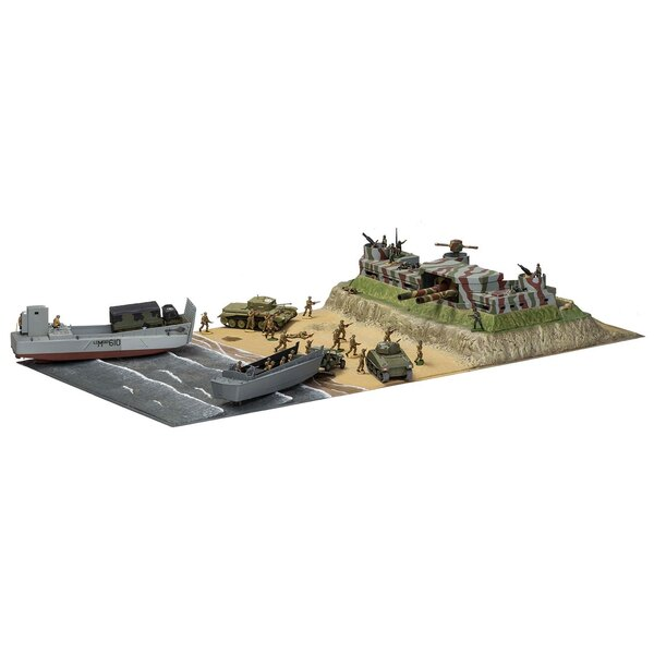 D-Day Operazione Overlord Giant Gift Set (regalo o antipasto set con vernici, pennello e cemento poli) Questa raccolta proviene