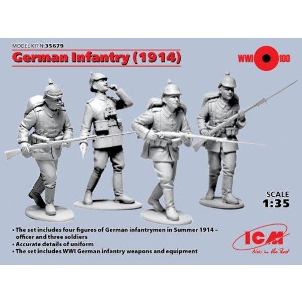 Fanteria tedesca 1914 (figure 4 x)