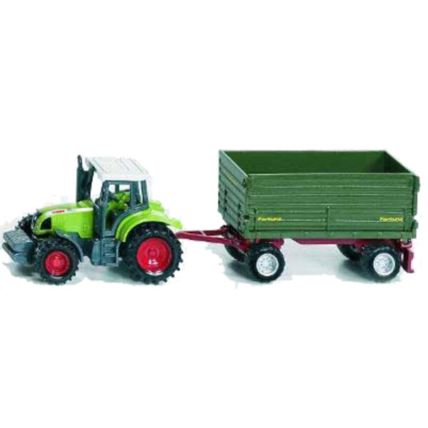 Tractor with 2 Axle Trailer 1:87