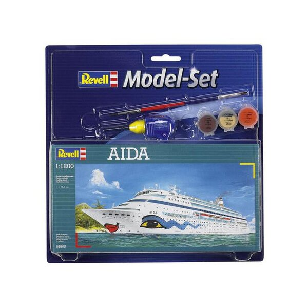 Aida Model Set - box containing the model, paints, brush and glue
