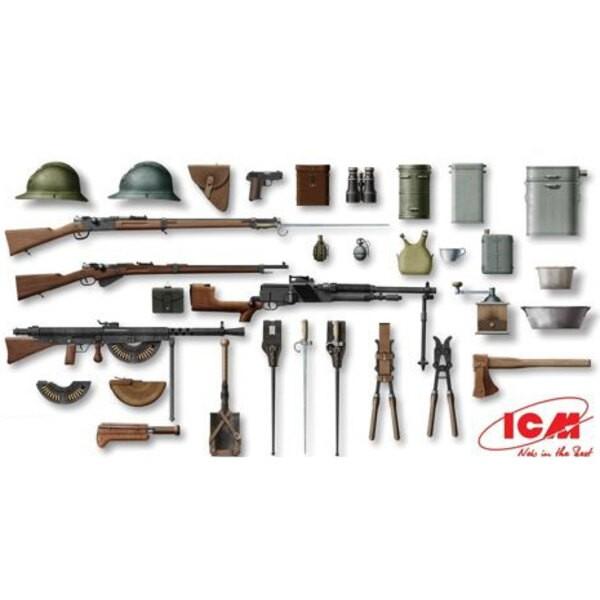 WWI francese Fanteria arma e di equipaggiamento
