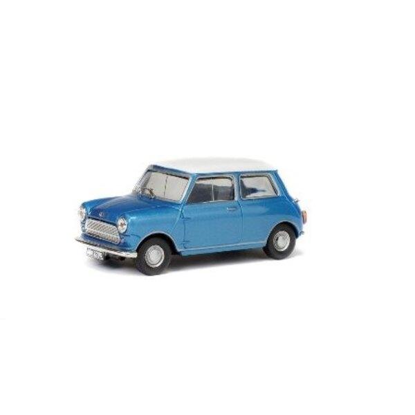 MORRIS MINI COOPER S 1967 BLU tetto bianco