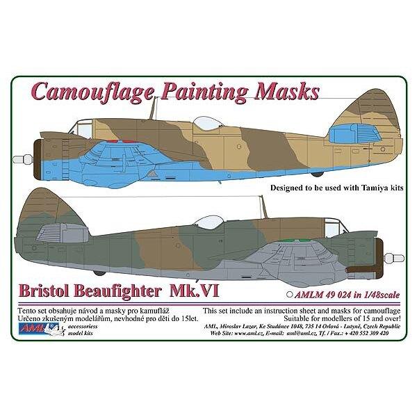 Bristol Beaufighter Mk.VI - 2 Variante maschera vernice Camouflage modello (progettato per essere utilizzato con i kit Tamiya