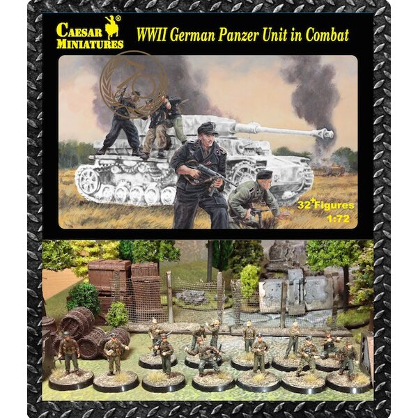 Unità Panzer tedesco in combattimento (seconda guerra mondiale) x 32 figure (solo cifre. Nessuna attrezzatura background)