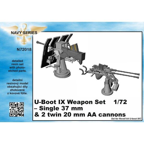 Tipo Armi IXC set - singoli 37mm e 20mm AA cannoni [progettato per essere utilizzato con i kit Revell) (U-Boot / U-Boat / U Boat