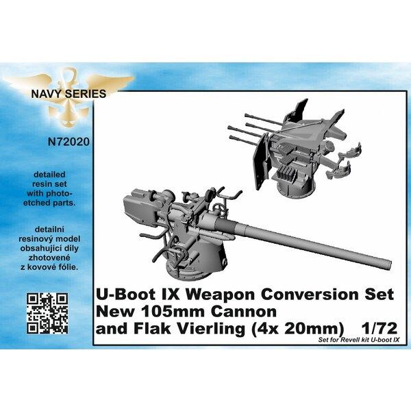 Tipo IXC kit di conversione arma - nuovo 105 millimetri cannone e Flak Vierling 4 x 20 mm [progettato per essere utilizzato con