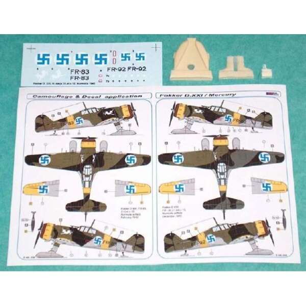 Fokker D.XXI Finnish decal with resin parts