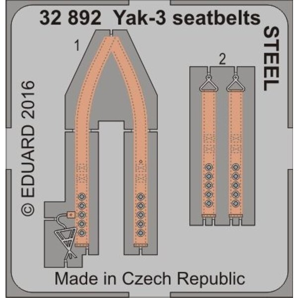 Yakovlev Yak-3 cinture di sicurezza ACCIAIO (progettato per essere utilizzato con i kit speciale Hobby)