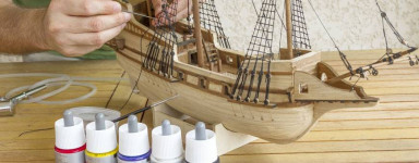 Kit modello di nave di legno