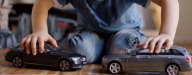 camion e auto in miniatura